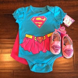 Super girl outfit with super girl shoes